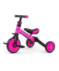 Milly mally optimus pink rowerek trzykołowy 3w1