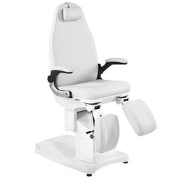 Fotel podologiczny elektr. azzurro 709a 3 siln. biały