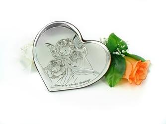 Obrazek aniołek pamiatka chrztu św. chrzest grawer