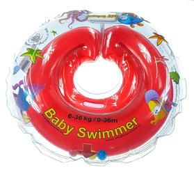 Dmuchany kołnierz Baby Swimmer 6-36 kg, czerwony