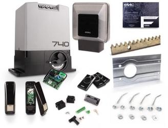 Zestaw do bramy przesuwnej faac 740 + listwy + lampa - szybka dostawa lub możliwość odbioru w 39 miastach