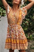 Letnia bawełniana sukienka z guziczkami 235