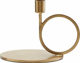 Świecznik Cirque koło 13 cm złoty