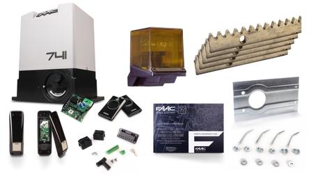 Zestaw do bram przesuwnych FAAC 741 + akcesoria - Szybka dostawa lub możliwość odbioru w 39 miastach