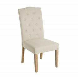 Krzesło chesterfield glamour beżowe