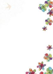 Kolorowe kwiaty tablica suchościeralna magnetyczna 082