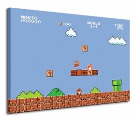 Super Mario Bros. 1-1 - Obraz na płótnie