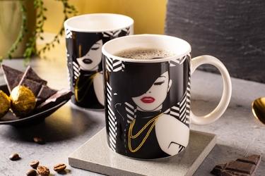 Kubek do kawy i herbaty porcelanowy altom design modern woman 300 ml, dekoracja c  zmieniająca kolor