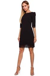 Czarna wizytowa sukienka z koronką