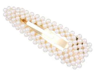 Spinka do włosów perełki perły ślub złota