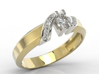 Pierścionek z żółtego i białego złota z diamentami jp-66zb - wysyłka w następny dzień roboczy - sprawdź dostępność