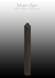 Świeca z wosku 9x1,2cm - czarna 5 sztuk