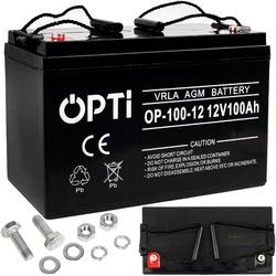 Akumulator żelowy agm opti 12v 100ah bezobsługowy volt polska