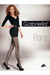 Gabriella 465 flora 20 den beżowy rajstopy