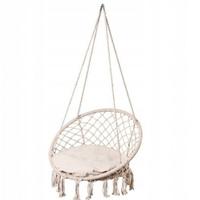 Huśtawka ogrodowa bocianie gniazdo fotel poduszka biała