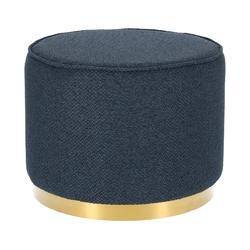 Tapicerowana pufa na złotym pierścieniu kung xl