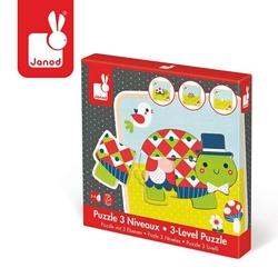 Puzzle drewniane 3-warstwowe żółwie