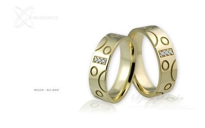 Obrączki ślubne - wzór au-469