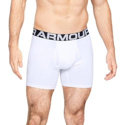 Bokserki męskie under armour charged cotton 6in 3 pack - biały