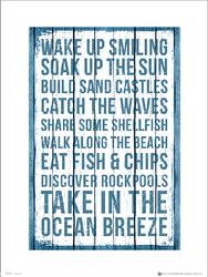 Seaside Ocean Breeze - plakat premium