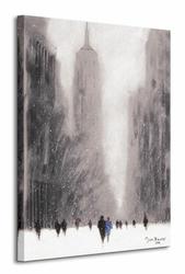 Heavy Snowfall, 5th Avenue - New York - Obraz na płótnie