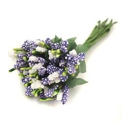 Pręciki do kwiatów kaszka drobna 12 szt. - fioletowe - fioletowy