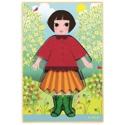 Dziewczynka układanka ubieranka filcowa cleotricot
