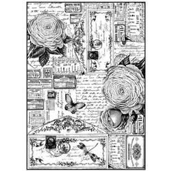 Papier ryżowy Stamperia A4 róże