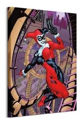 Harley quinn rollercoaster - obraz na płótnie