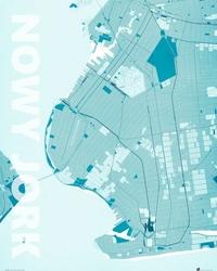 Nowy Jork - Błękitna mapa
