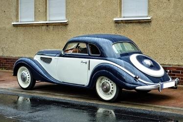 Fototapeta na ścianę biało granatowy retro samochód fp 3293