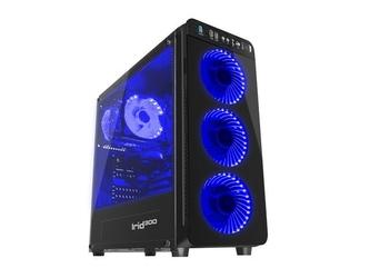 NATEC Obudowa Genesis Irid 300 USB 3.0 z oknem niebieskie podświetlenie