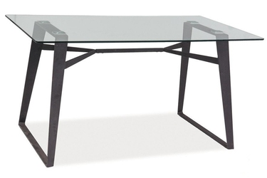 Stół do kuchni Fosgar 140x80 cm czarny szklany