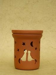 Podgrzewacz do olejków - kominek - wzór koty
