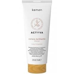 Kemon actyva colore brillante, maska chroniąca kolor włosów 75ml
