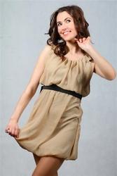 Sukienka coco beĺźowa