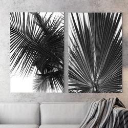 Zestaw dwóch obrazów - modern palms , wymiary - 40cm x 50cm 2 sztuki