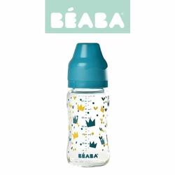 Butelka szklana szerokootworowa 240 ml Yellow  Blue Crown, Beaba