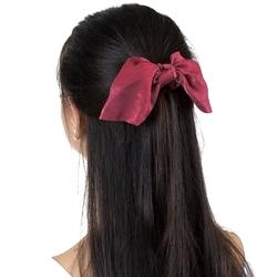 Gumka do włosów bordowa apaszka scrunchies frotka