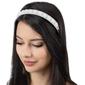 Ozdoba do włosów ślubna opaska biała szeroka perły