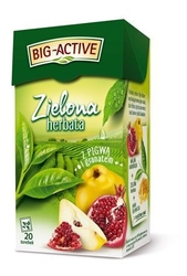 Herbata big-active zielona z pigwą i granatem 20t