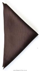 Poszetka jedwabna 33x33cm, brązowa