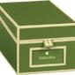 Pudełko na wizytówki die kante ciemnozielone