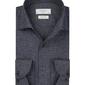 Granatowa flanelowa koszula profuomo slim fit 38