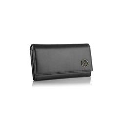 Skórzany damski portfel betlewski bpd-bf-10 czarny