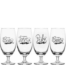Kieliszki do piwa z nadrukiem Love, Beer, Bar Pub - 4 sztuki SF-5017608