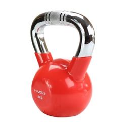 Hantla winylowa żeliwna kettlebell ktc08 8 kg - hms - 8 kg