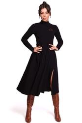 Czarna dzianinowa marszczona spódnica na gumie
