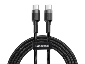Baseus kabel cafule 2x usb-c qc 3a 1m pd black - czarny