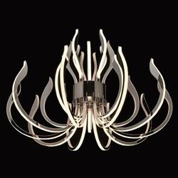 Lampa wisząca ramiona led, chromowana regenbogen megapolis 661015615